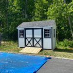 Wood shed in Suffolk County NY.
