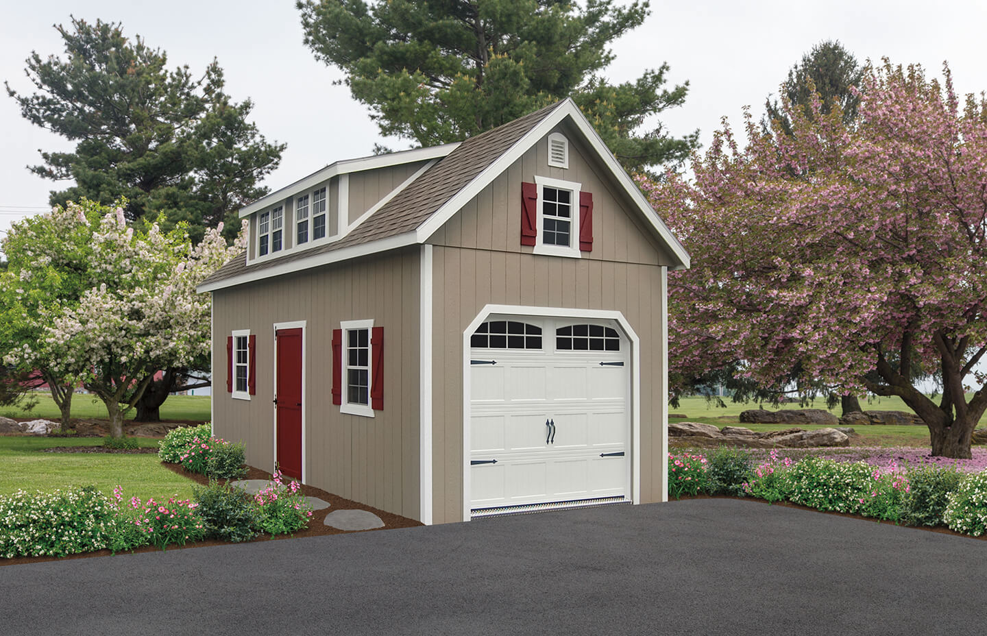 Two story garage in Long Island, NY.